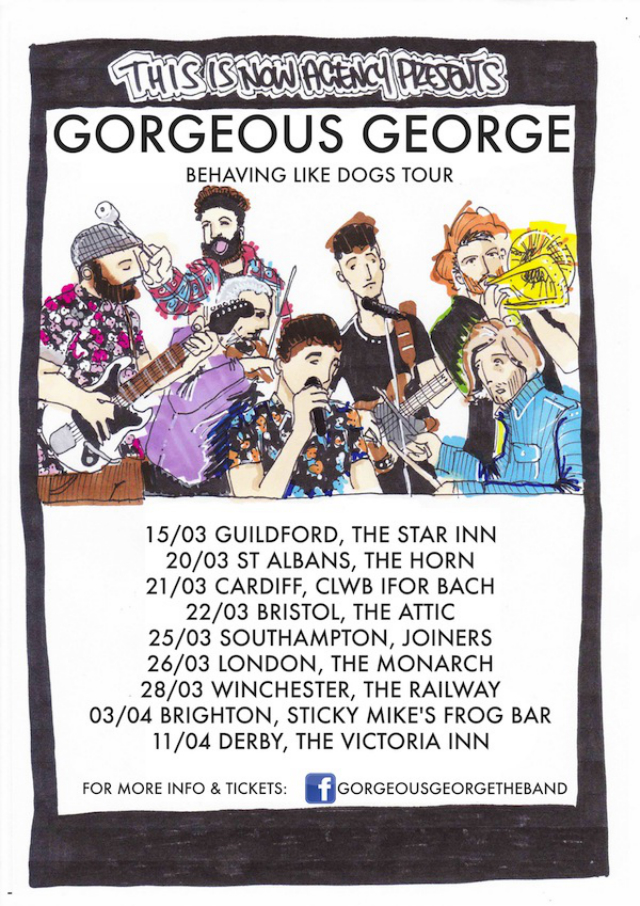GORGEOUS GEORGE MARCH UK TOUR POSTER BLOG