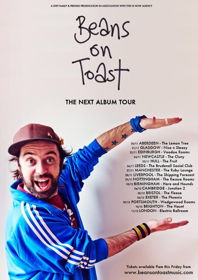 Beans On Toast - Tour Poster