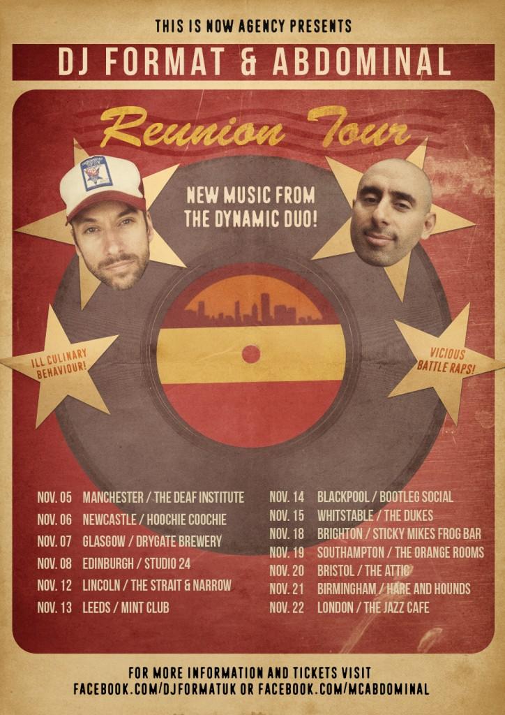 DJ FORMAT & ABDOMINAL REUNION TOUR